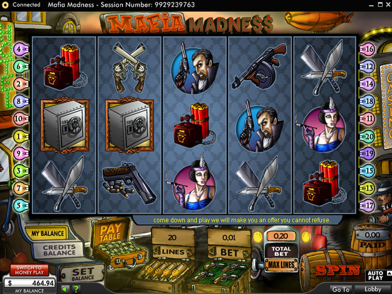Mafia Madness Slots - Play the Free 888 Game Online