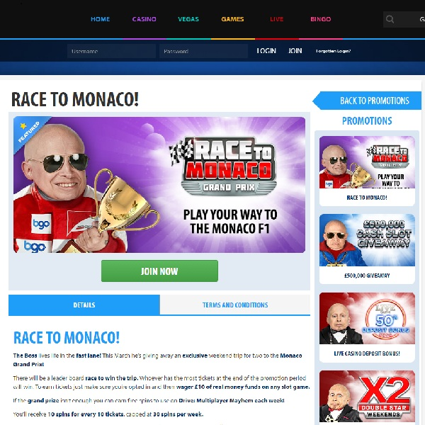 Win A Trip to the Monaco Grand Prix at BGO