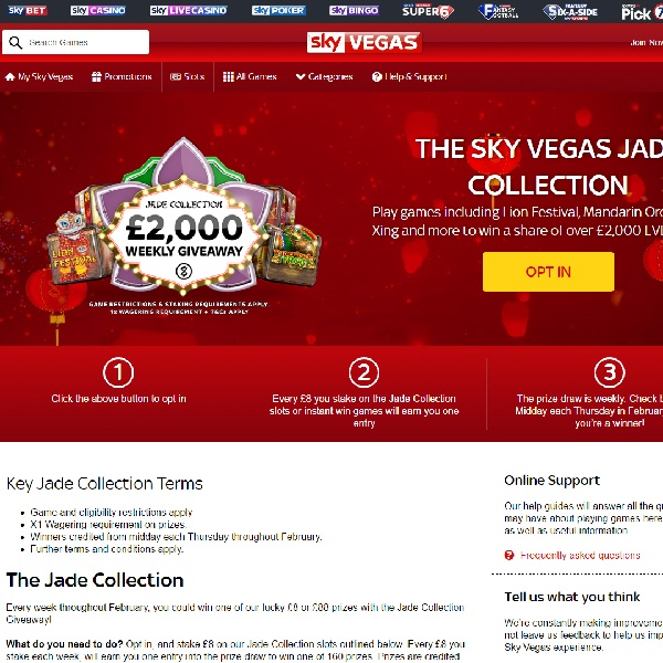 Win a Share of £2K in Sky Vegas Jade Collection Giveaway