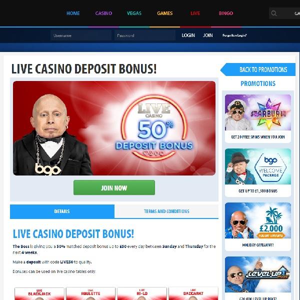 Claim Up to £250 of Live Dealer Bonuses at BGO Casino