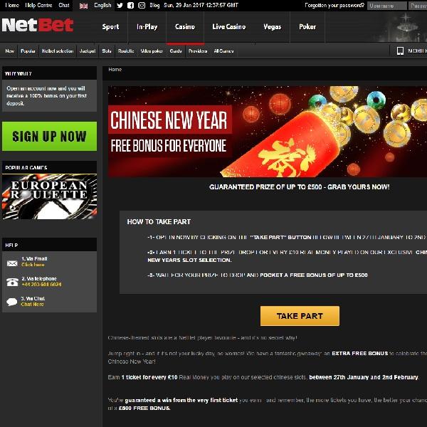 Celebrate Chinese New Year with Guaranteed Bonuses at NetBet Casino