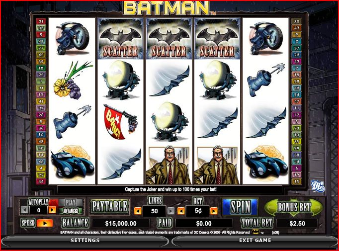 Later this month Microgaming will be releasing the first slot game based upon the Batman Dark Knight film.
