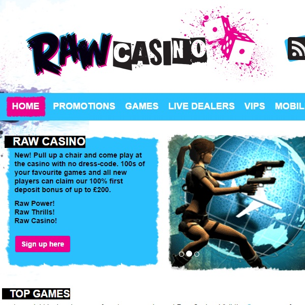 new online casino book of raw