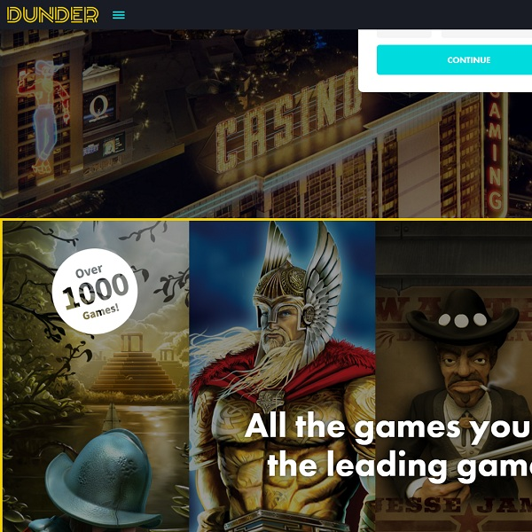 Dunder Casino Online Review With Promotions & Bonuses