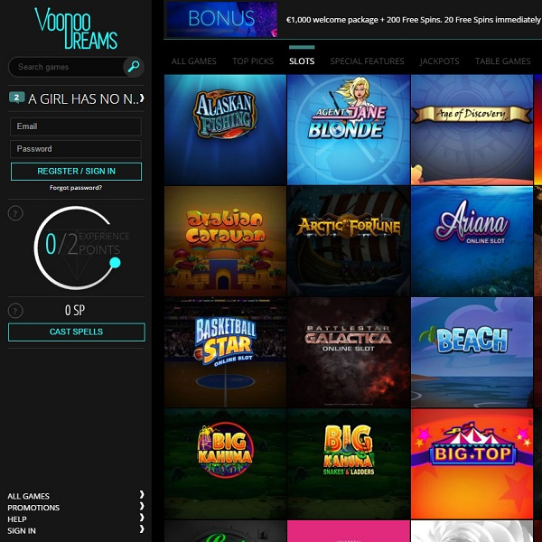 Voodoo Dreams Casino Brings a Touch of Magic