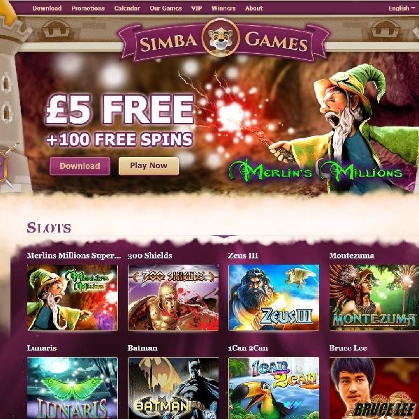 simba casino bonus code