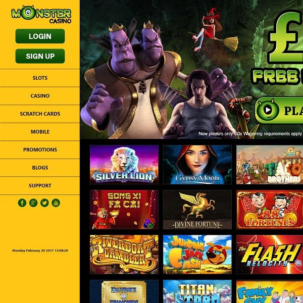 Monster Casino Offers Huge Bonuses