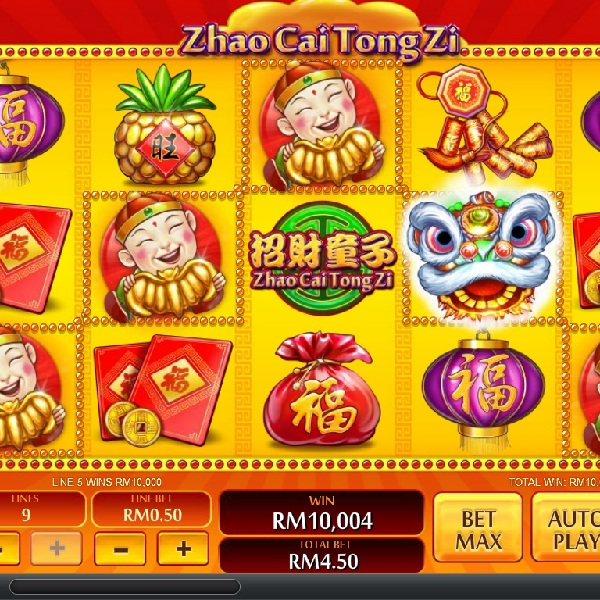 Play Zhao Cai Tong Zi Online Slots at Casino.com NZ