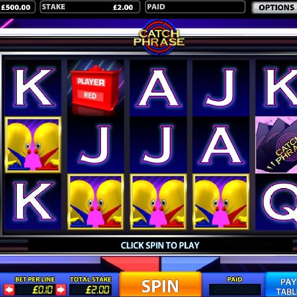 Catch Phrase Slot Features Three Mr. Chips Bonuses