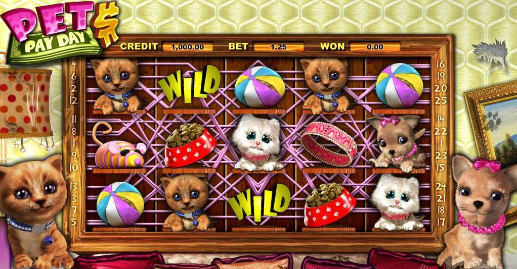 It's a light themed game for light gamblers. Pet your way to the jackpot!