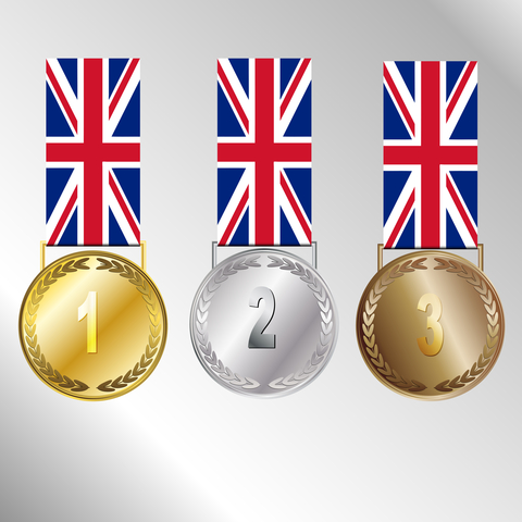 The Americans have won 44 gold medals, 29 silver and 29 bronze medals for a total of 102 medals won - an impressive number