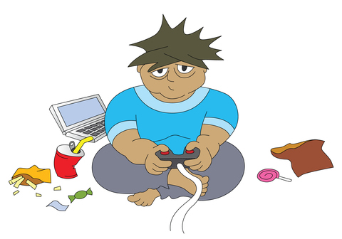 Video Games to Combat Child ObesityObese Children Playing Video Games