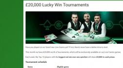 Unibet Casino Celebrates Live Dealer Casino with £20K Tournament