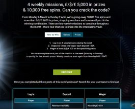 Win A Share of £5k of Prizes and 10K Free Spins at InterCasino