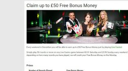 Enjoy £50 Bonus Cash at Unibet Casino This Weekend