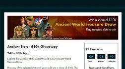 Win in Grosvenor Casino's Ancient Slots £10K Giveaway