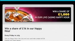 Grosvenor Casino Offers Live Dealer £1K Prize Pool Every Friday