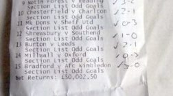 Punter Turns £2.50 in £50,000 With Football Accumulator Bet