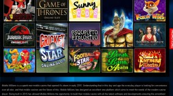 Mobile Millions Casino Offers Players Over 250 Video Slots