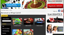 Winga Casino Welcomes Italian Players