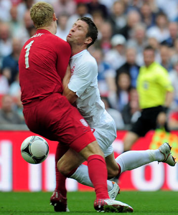While England came away with a 1-0 win in a friendly against Belgium at Wembley on Sunday, defender Gary Cahill walked off the pitch with a fractured jaw and effectively ended his Euro 2012 involvement