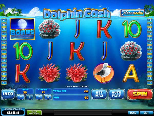 Dolphin King™ Slot Machine Game to Play Free in Cryptologics Online Casinos