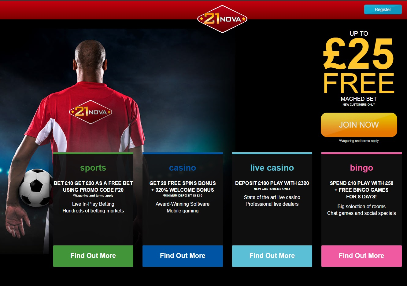 21Nova Casino Launches Sportsbook