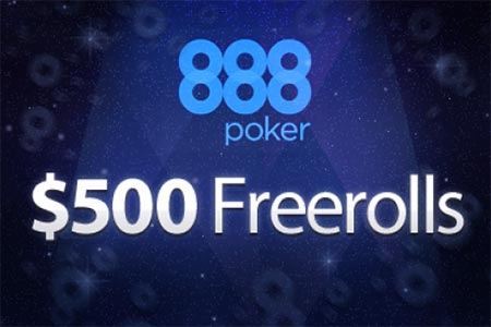 888Poker Giving Away $400k in Freerolls