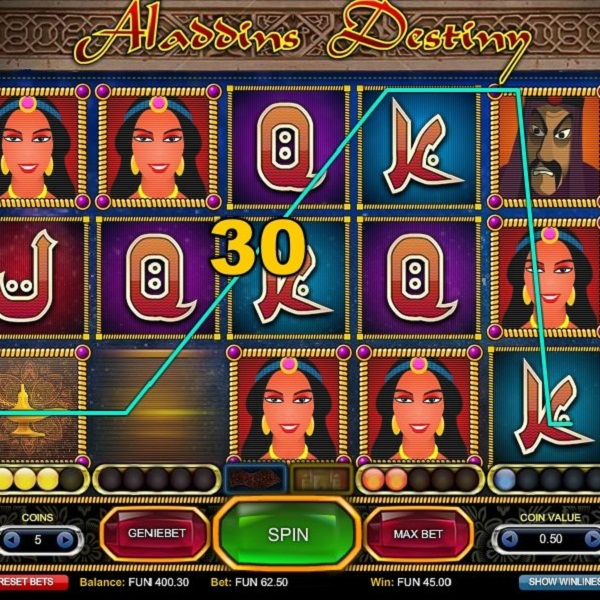 Head into the Arabian Nights with 1x2gaming's Aladdin's Destiny Slot