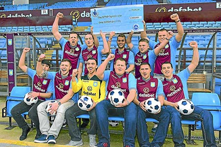 Aston Villa Lottery Syndicate Share £1 Million Jackpot