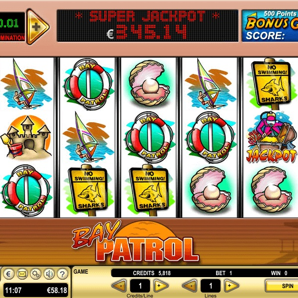 Bay Patrol Video Slots at Casino Club Offers €53K