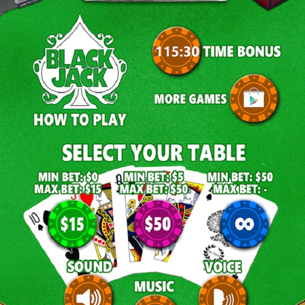 Marya's Blackjack for Android Offers Limitless Tables