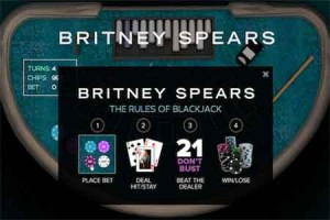 Britney Spears Promotes Britney Blackjack