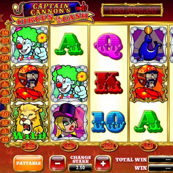 Betfair Casino's Captain Cannon's Circus of Cash Video Slot Offers £40K