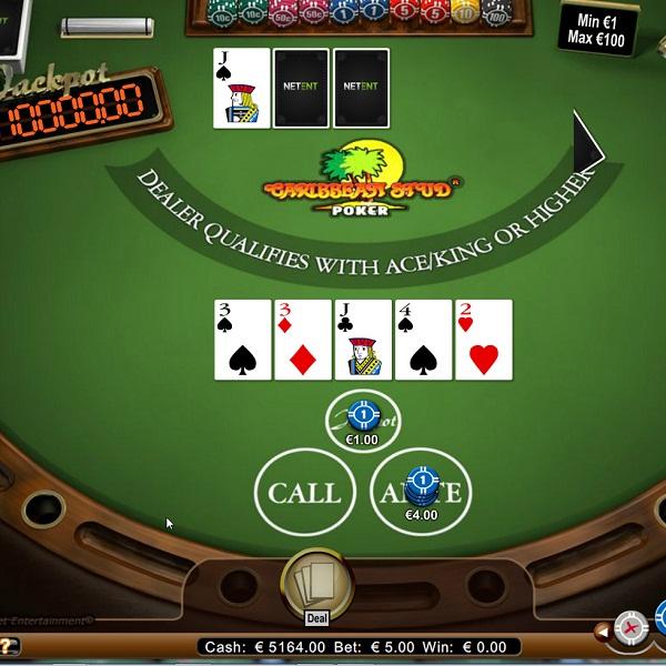 Caribbean Stud Progressive Jackpot at Betsson Casino Offers €663K