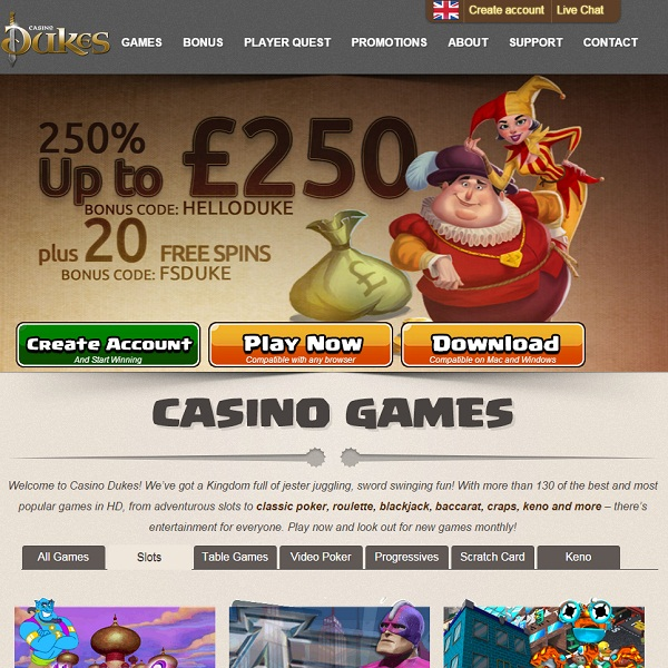 Casino Dukes Launches With Royal Fanfare