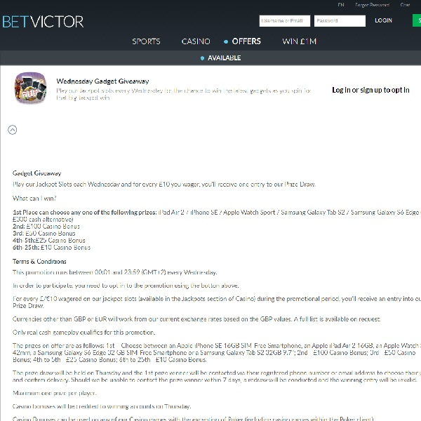Win Top Gadgets at BetVictor Casino Today