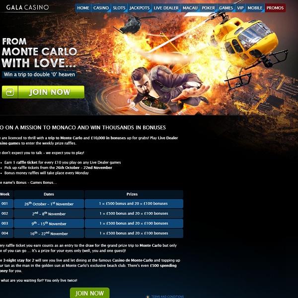 Win a Trip to Monte Carlo at Gala Casino