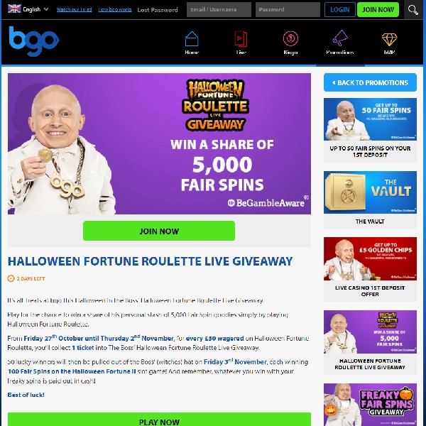 Win a Share of 5,000 Free Spins at BGO Casino Today