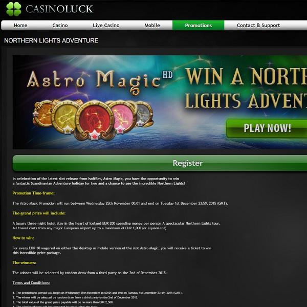 Win a Scandinavian Adventure Holiday at Casino Luck