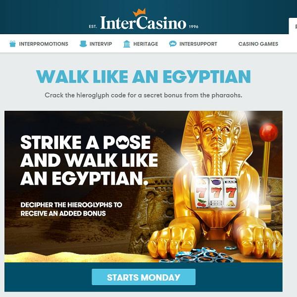 Receive Bonuses and Cashback at InterCasino this Week