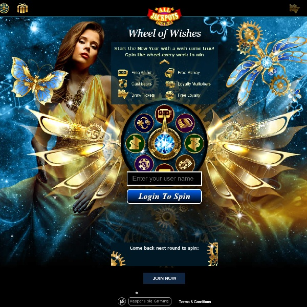 Spin Each Week For Bonuses at All Jackpots Casino
