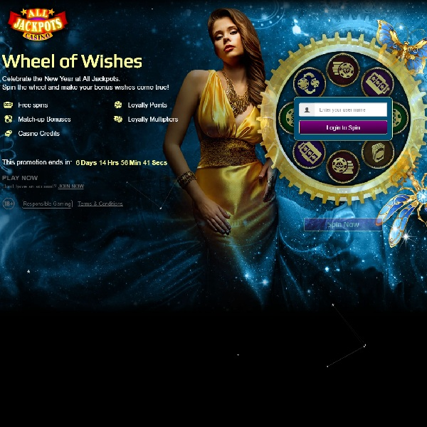 Spin All Jackpots Casino Wheel of Wishes for a New Year Bonus