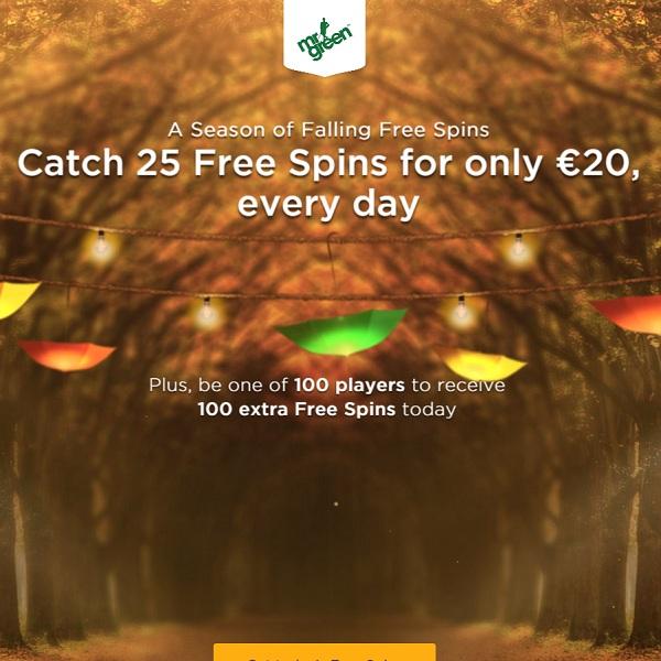 Enjoy 25 Daily Free Spins at Mr Green Casino