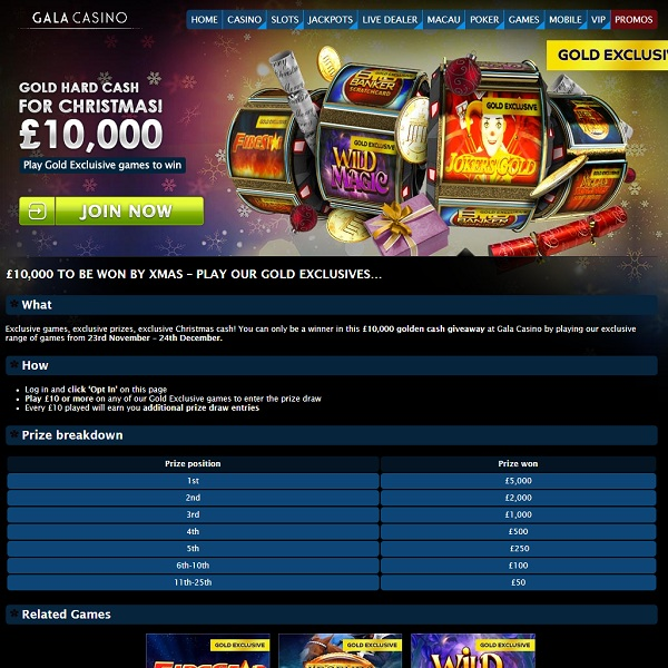 Win a Share of £10,000 at Gala Casino This Month