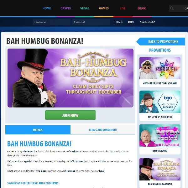 BGO Celebrates Countdown to Christmas with Bah Humbug Bonanza