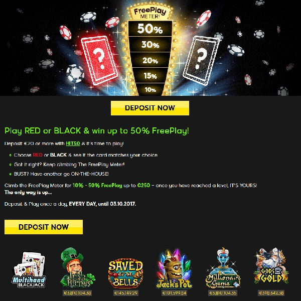 Win Up to £250 Free Play Everyday at 888 Casino