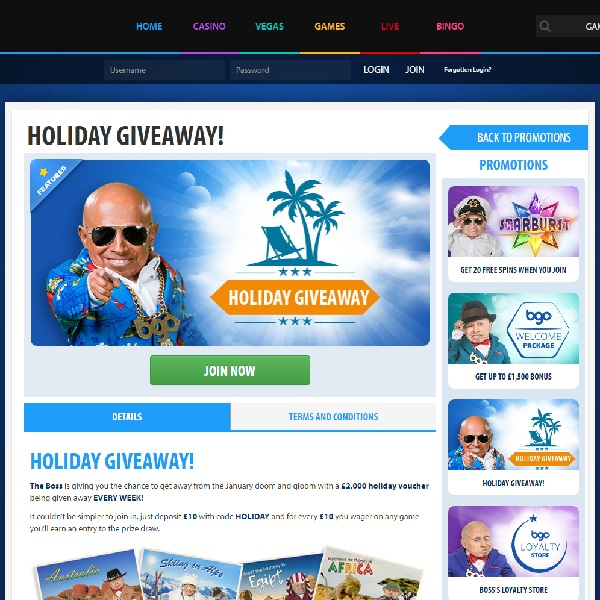 Win a £2000 Holiday Voucher at BGO Casino