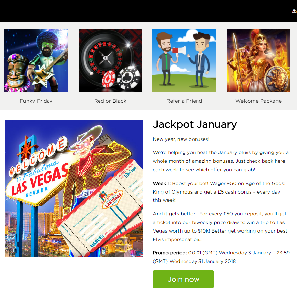 Enjoy Bonuses and Prize Draws with Casino.com's Jackpot January
