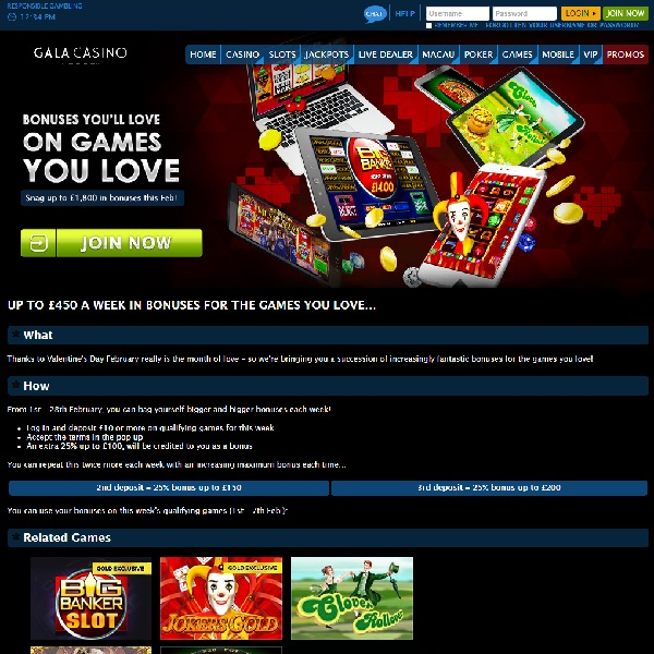 Receive Bonuses on Games You Love at Gala Casino